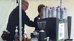 kaffevogn på konferencen til netværk
